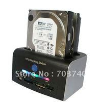 "2.5""/3.5"" IDE + SATA HDD Dock Docking Station+ESATA+USB HUB+Card Reader Support 2TB"