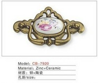 Best selling Ceramic Zinc Alloy Kitchen Cabinet Furniture Handle CB7920
