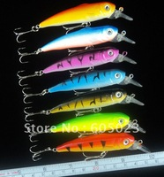 20pcs/lot wholesale 9cm plastic minnow fishing lures mix 4 colors fishing bait
