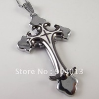12 pcs stainless steel two double white color Pendant Stainless Steel Necklace Titanium Steel pendant