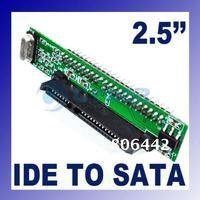 "Free shipping! 2.5"" HDD 44-pin Drive Male ATA IDE to SATA Mini Adapter Converter"