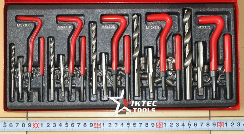 Auto Tools 131 PieceThread Repair Set (VT01078) Body Repair Kits(China (Mainland))