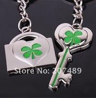 sweet heart clover key ring forever love Key Chain Boy & Girl Lover Couple wedding metal pendant