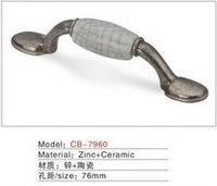 Best selling Ceramic Zinc Alloy Kitchen Cabinet Furniture Handle CB7960