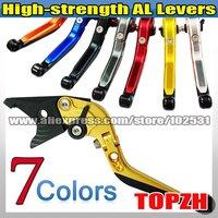 New High-strength AL Foldable Extend Levers Clutch & Brake for KAWASAKI ZX636R/ZX6RR 05-06 Z105