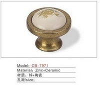 Best selling Ceramic Zinc Alloy Kitchen Cabinet Furniture Handle CB7971