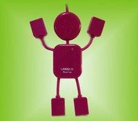 usb splitter/usb hub/hub,wholesale Exterior design cute little mini-robot
