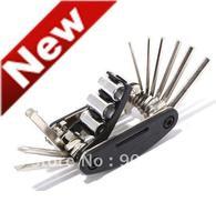 ROSWHEEL 16 in 1 Multi-function Bicycle Tools Repair Kits Spoke Wrench Hex Key