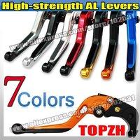 New High-strength AL adjustable Levers Clutch & Brake for KAWASAKI KLV1000 alle S142