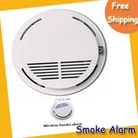 hot sale Wireless smoke detector/smoke alarm/smoke sensor free shipping MOQ=3PCS