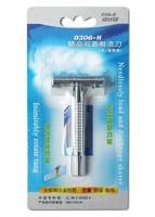 Safety razor Shaver double-edge cooper alloy holder rotate tang chromium plating 9306-H Excellent quality 100PCS/LOT NEW