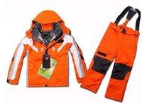 free orange Outdoor Sportswear Breathable  Kids Ski Jacket+Pants
