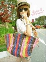 2011 Top Sale Lady' Phragmites Knit Bag,Fashion Shoulder bag ,Lady's Handbags,