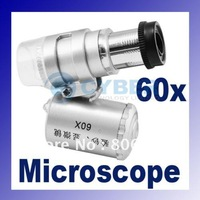 Микроскоп 60x mini zoom Microscope with 3-LED Lighted +Money/Currency Detecting Magnifier Loupe dropshipping