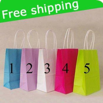 kraft paper bag & Festival gift package, Fashionable gift paper bag, 21X15X8cm