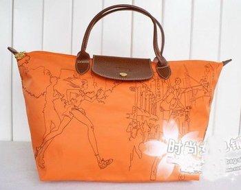 2012 New Free Shipping female folding shoulder bag waterproof bag