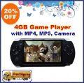 Freeshipping! Hotselling 4GB 4.3&quot; MP4 MP5 GAME PLAYER +E-book+1.3MP Camera+TV out