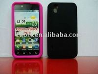 Free shipping 1PCS silicone GEL Skin Case cover for LG Optimus P970 mobile phone