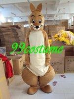 Free Shipping Adult Size Yellow Kangaroo Cartoon Cosplay Mascot Costume Cosplay Christmas Hallowmas Party Dress