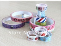 length 1500cm cartoon color tape stick stationery Office Adhesive Deco Fabric Adhesive Roll Big