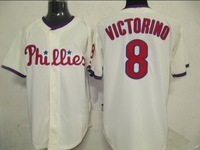Free Shipping Philadelphia Phillies #8 Shane Victorian Cream Cool Base Jersey,Philadelphia Phillies Jerseys,Baseball Jerseys