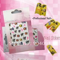 HOTSALE Flower series Nail Sticker ,22 different styles available Nail / Nail Art 3D nail sticker/lot Free shipping