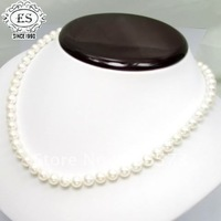 18INCH AKOYA SALT WATER CULTURED WHITE PEARL NECKLACE