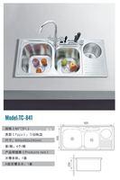90CM Triple Bowls Stainless Steel Sink Kitchen Sink TC-841