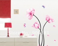 Withering flowers Wall paper lovely decal removable stickers Free shipping