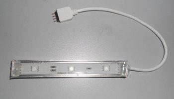 waterproof 5050 SMD LED Rigid strip light;3pcs 5050 SMD led;0.1m long;metal housing