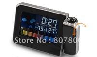 Hot Sale Weather Station Clock Iphone Shape Colorful Large LCD Screen Projection Alarm Clock Digital Desktop Clock