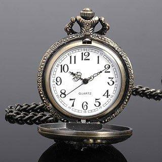 Embosment Railroad Steam train Bronze Tone Men Japan Quartz Movement Pocket Watch W/ Chain Nice Gift Wholesale Price H006