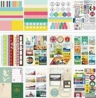 Korea Stationery Travel Series Daily Diary Deco Stciker 12sheets/set ST0460