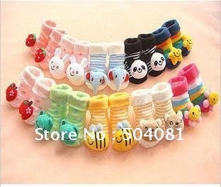 Infants CUTE 3D cartoon animal Socks Baby Prevent slippery Modelling Stereo Toddler antislip Sox/Doll Sox/Newborn shoes