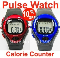 Heart Rate Watch New Calorie Counter Pulse Heart Rate Monitor Stop Watch &amp; Free Shipping(China (Mainland))
