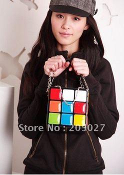 2011creative christmas gift  New Fashion design, Magic Cube bag, Tote bag, lady's handbag freeshipping/women's bag