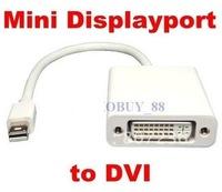 Free shipping**30pcs/lot**17cm Mini Displayport Display Port DP to DVI Adapter Cable for Apple MacBookimitation apple