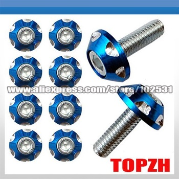 Motorcycle Windscreen Fairing Decoration Screws Bolts Motorcycle Accessories Blue TA030