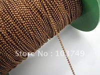 1.5mm 100m link chains roller chain iron&vintage red copper ball chain Jewelry Chain fit necklace&bracelet free Shipping HC010