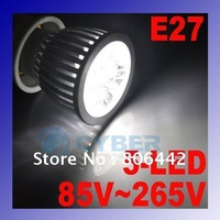 5W E27 LED Bulb,85~265V 5-LED Cold White Spot Lamp Light Free Shipping