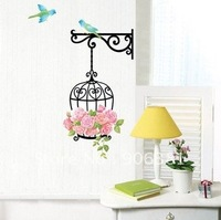 Birdcage Wall paper,wall sticker,wall decal,house sticker Free shipping