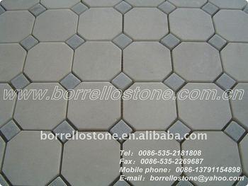 art round stone flooring