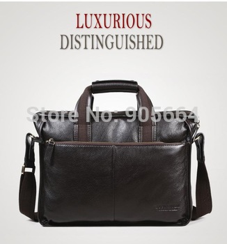 Free shipping.genuine leather handbag.portfolio.man business cases.bag.great deal.laptop
