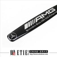 AMG Aluminum gel arc Car logo sticker/Mitsubishi modification/support customization/turned the agent