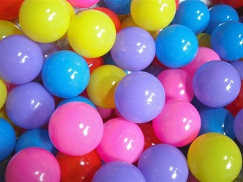 7 CM PVC Non-toxic see balls *used in ball pool, indoor playground equipment