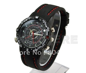 4pcs Free Shipping Fashion Waterproof  Watch Built-in 4GB Digital Video Recorder High Definition Camcorder Hidden Camera HD DVR