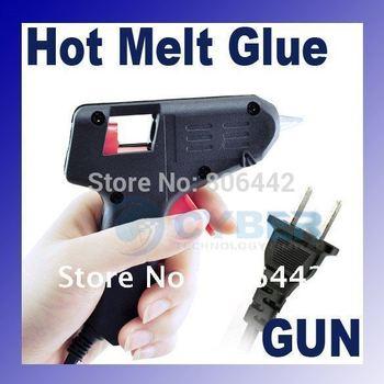 10W 110V-220V Mini Electric Heating Hot Melt Glue Gun Crafts Repair Tool Professional(US Plug), Free Shipping