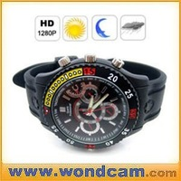 720P HD Waterproof Watch Camera 4GB Motion Detect Camera Watch