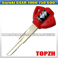 Motorcycle Red Key Blank For Suzuki GSXR 1000 750 600 TA040