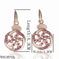 Free Shipping Wholesale fashion jewelry Earrings ,18K gold plated  earring . Nice Jewelry. Good Quality PE015